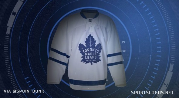 LEAFS ROAD WHITE JERSEY LEAK