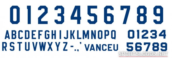 New Leafs Uniforms - Number Font