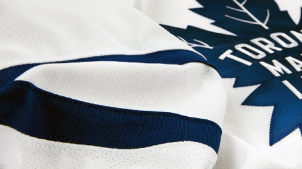 New Leafs Uniforms - Road Crest Closeup