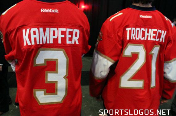 Back of the new uniform, the horizontal stripe doesn't continue (Photo: Ryan Mackman/SportsLogos.Net)