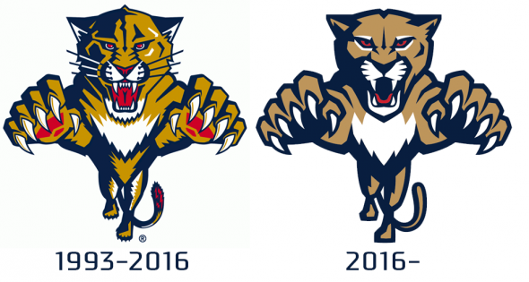 Comparing the old and new leaping panther