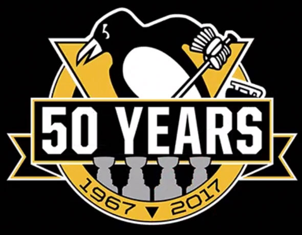 Penguins Add a Cup to 50th Anniversary Logo