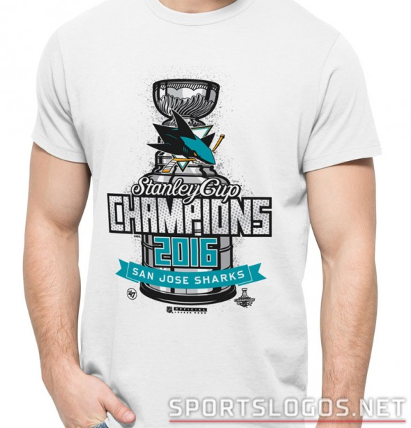 San Jose Sharks 2016 Stanley Cup Champs locker room shirt