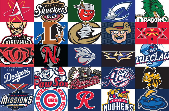top 25 minor league merchandise teams are diverse to say the least rh news sportslogos net 1952 Minor League Baseball Teams All Minor League Baseball Logos