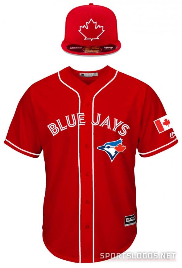 Toronto Blue Jays Canada Day Uniform 2016