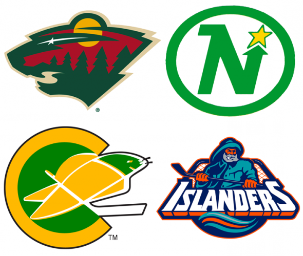 John Viola's favourite logos include the Wild, North Stars, Seals, and Islanders