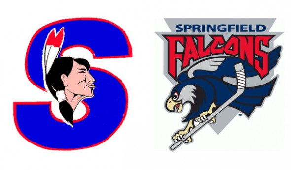 Previous Springfield AHL teams include the Indians and Falcons