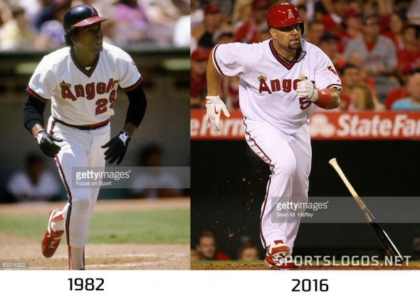 Angels 1982 vs 2016 Compare
