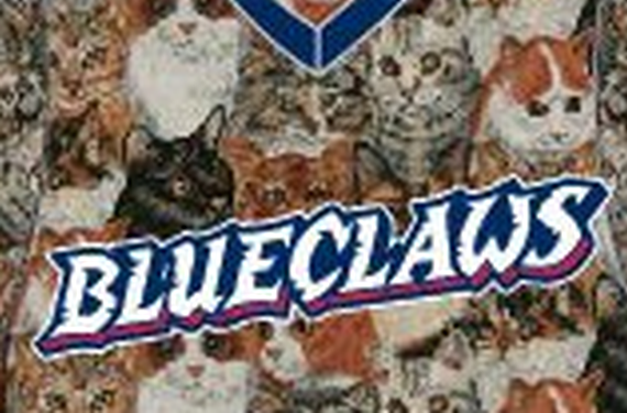 Lakewood BlueClaws will wear CATurday jerseys for Saturday game