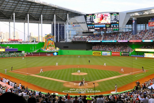 Marlins Park was a big inspiration for the overall look of the 2017 All-Star Game branding (photo: Wikipedia)
