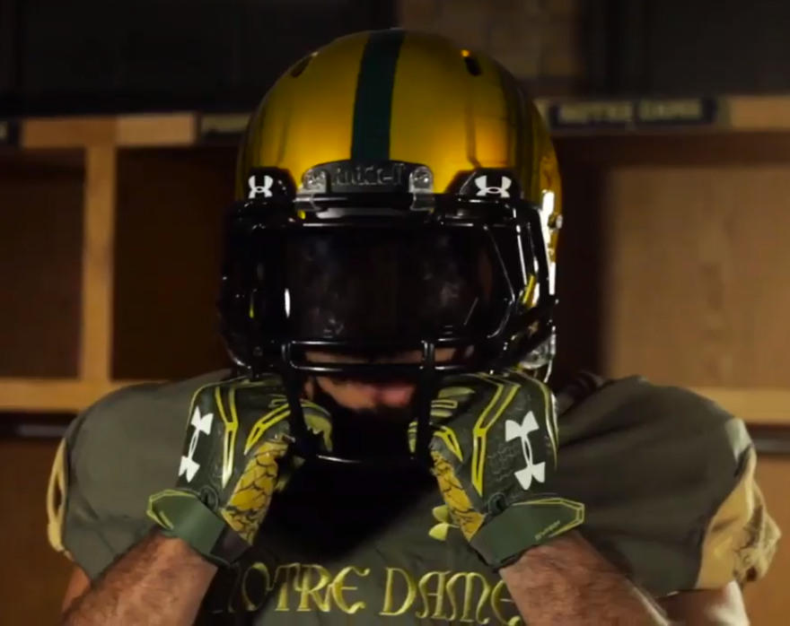 aa7ab4c39 Notre Dame officially unveils Shamrock Series uniforms for 2016 ...