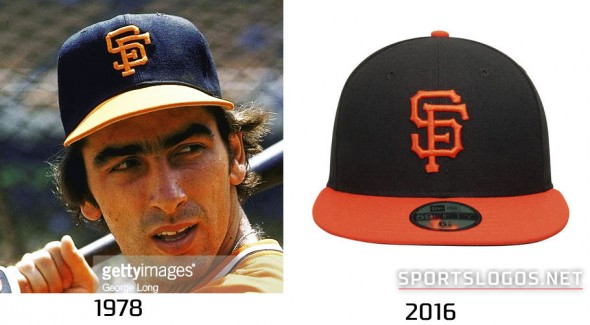 San Francisco Giants 1978 vs 2016 Compare Cap