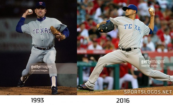 Texas Rangers 1993 vs 2016 Compare 2