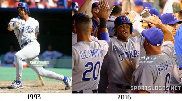 Texas Rangers 1993 vs 2016 Compare