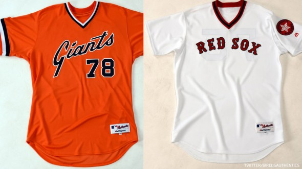 Throwbacks Giants at Red Sox