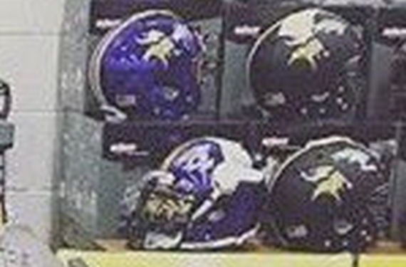 What's the deal with these Minnesota Vikings helmet designs?