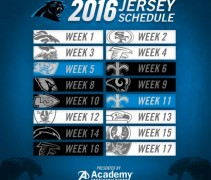 Carolina Panthers 2016 Uniform Schedule