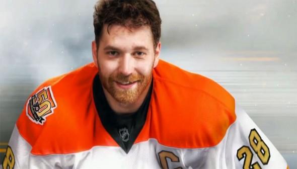 hot sale online 8d036 277d7 Philadelphia Flyers Unveil Golden 50th Season Jersey   Chris ...
