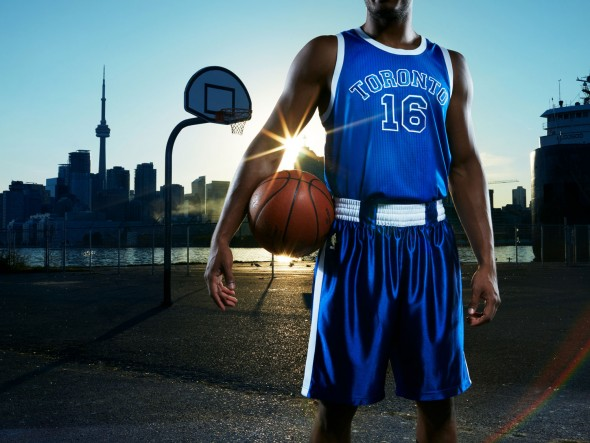 The Raptors will wear blue Huskies throwbacks six times this season (Photo: Sandy Nicholson)