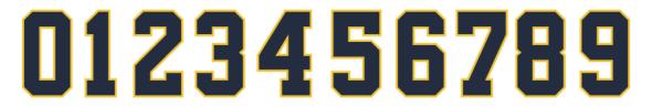 Michigan Jumpman font 2