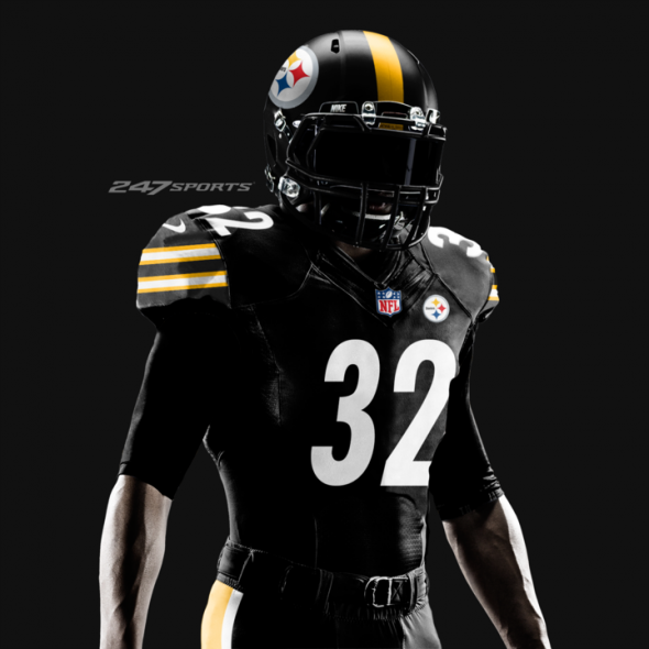 big sale 2cd58 93bbc Pittsburgh Steelers will wear all-black for Color Rush on ...