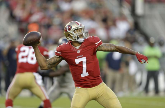 Colin Kaepernick has seen his jersey sales surge since starting protest
