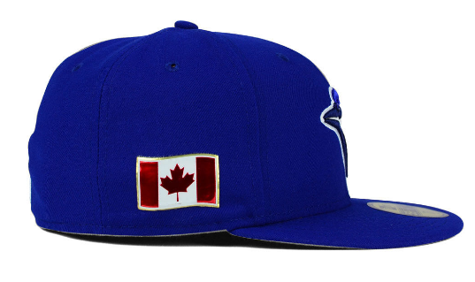 Toronto Blue Jays cap also gets a Canadian flag patch
