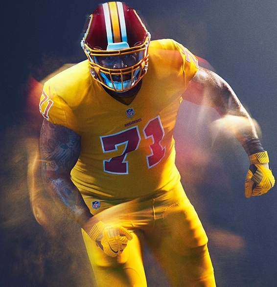Washington may not wear their Color Rush uniforms