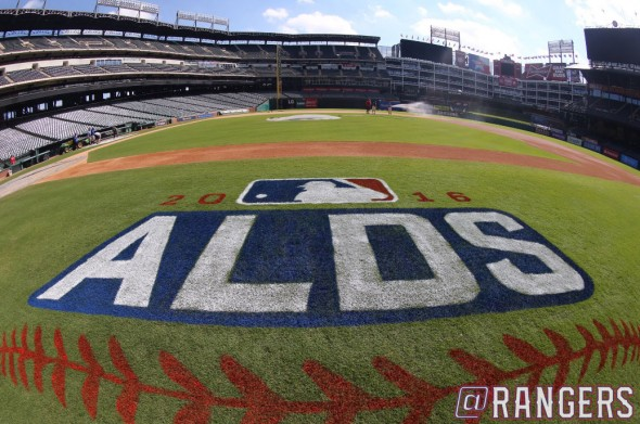 ALDS Logo on field Texas