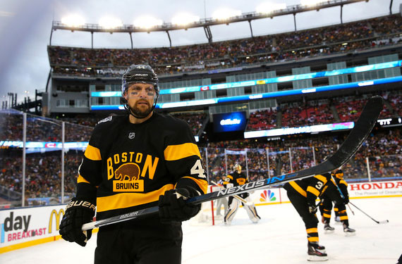 The Bruins in their future alternate jersey at the 2016 Winter Classic  earlier this year f09ae8a57d5