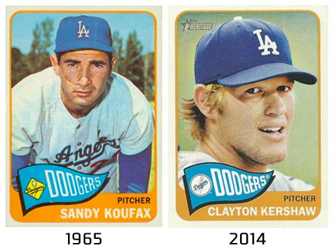 The Dodgers cap has stayed nearly identical for over 50 years