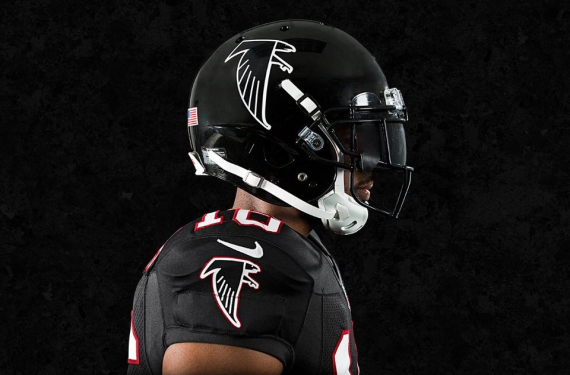 1cd95b89 Atlanta Falcons mash up two eras of black uniforms with throwback look