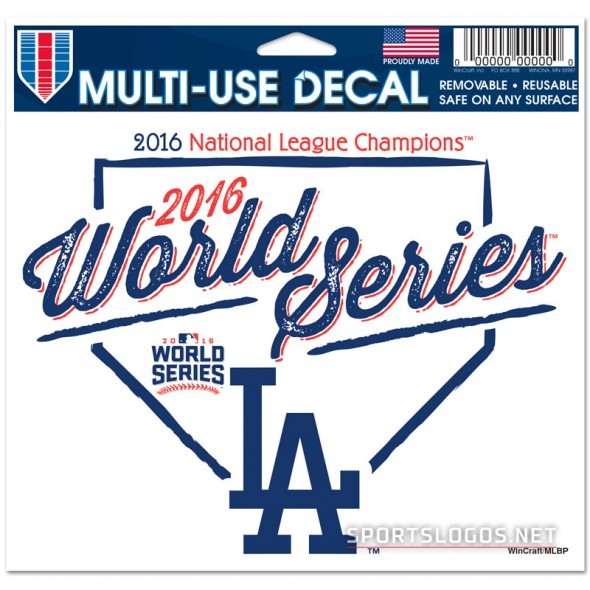 LA Dodgers 2016 World Series Decal