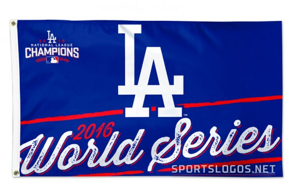LA Dodgers 2016 World Series Flag