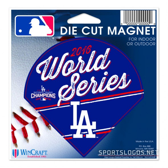 LA Dodgers 2016 World Series Magnet