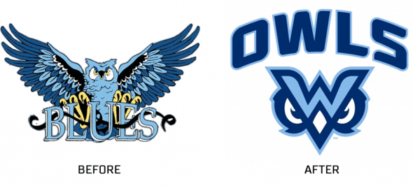 MUW Owls Blues before after