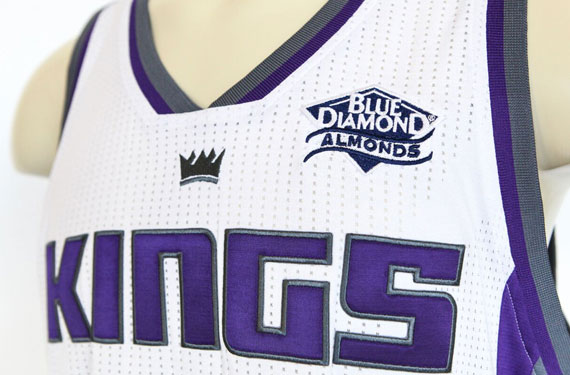 Sacramento Kings Blue Diamond Almond Jersey Advertisement Patch