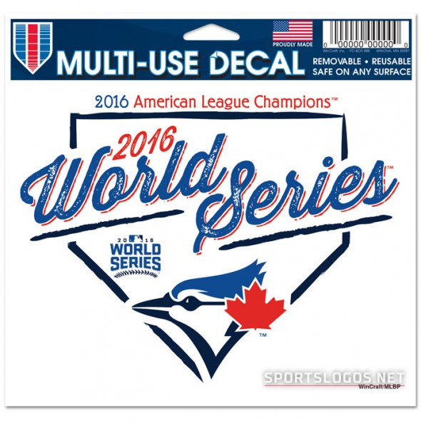Toronto Blue Jays 2016 AL Champs Decal