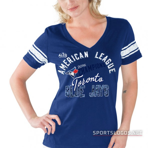 Toronto Blue Jays 2016 American League Champions Womens T-Shirt 3