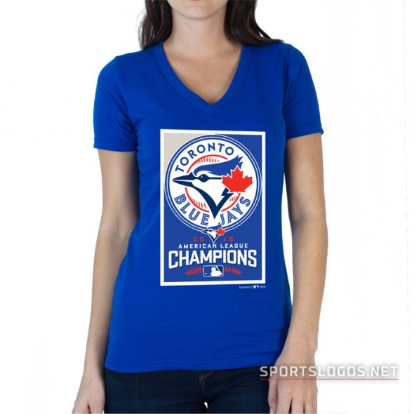 Toronto Blue Jays 2016 American League Champions Womens T-Shirt