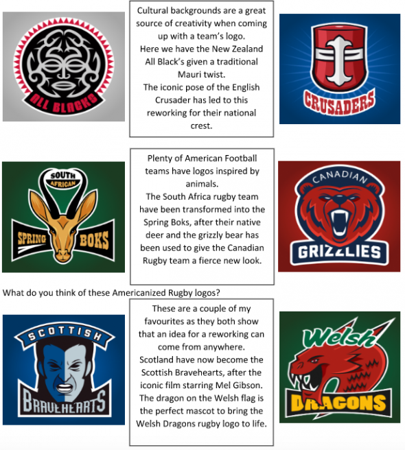 americanized rugby logos