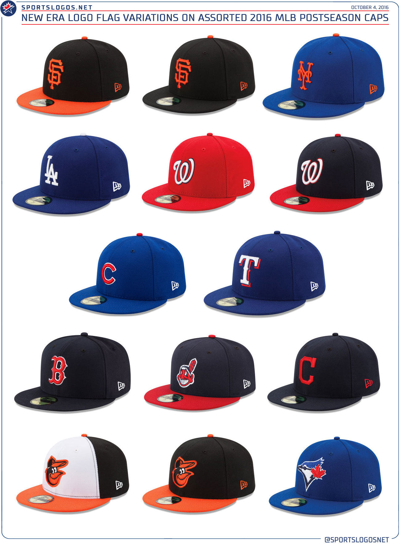 00a7e303a40d5 new era flag on mlb caps 2016. Postseason ...