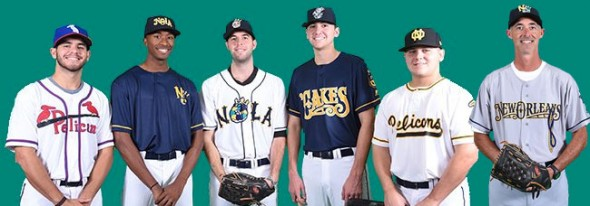 2017 New Orleans Baby Cakes uniforms