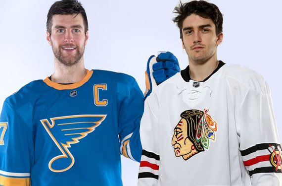 Blues Blackhawks Winter Classic Jerseys 2017