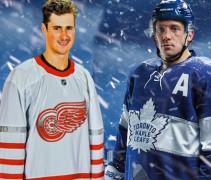 Red Wings Leafs Jerseys