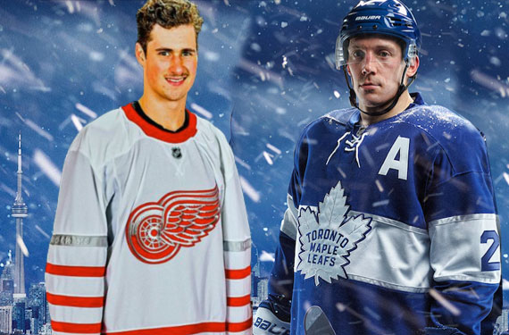 Red Wings Leafs Jerseys