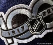 NHL 100 Patch