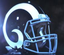 Rams white helmet f