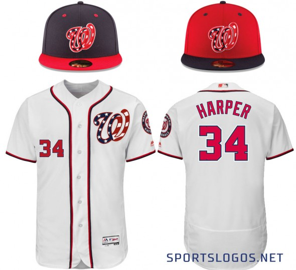 Washington Nationals New Uniform Cap Jersey 2017
