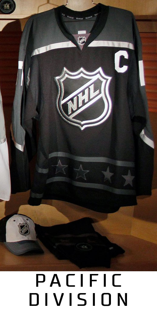 2017 NHL All-Star Game Jersey Pacific Division  a9fdb5fb976